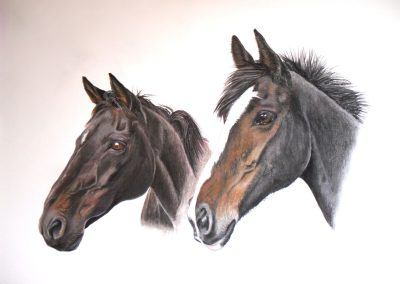 Flicker & Molly, pastel SOLD