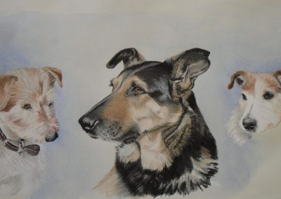Friends III, pastel & watercolour SOLD